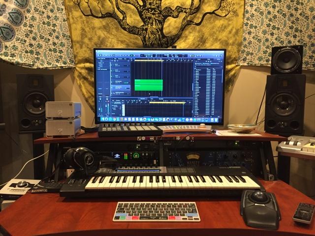 Heffron Drive's studio with ADAM Audio A7X monitors