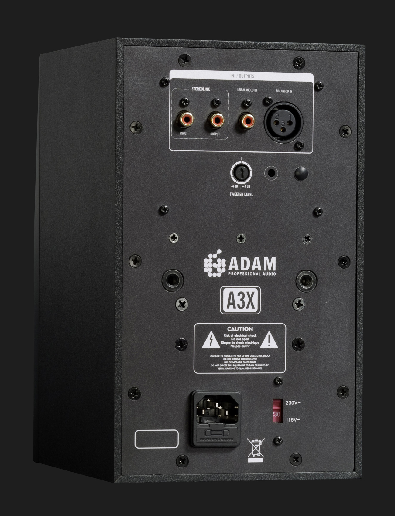 ADAM Audio A3X desktop studio monitor