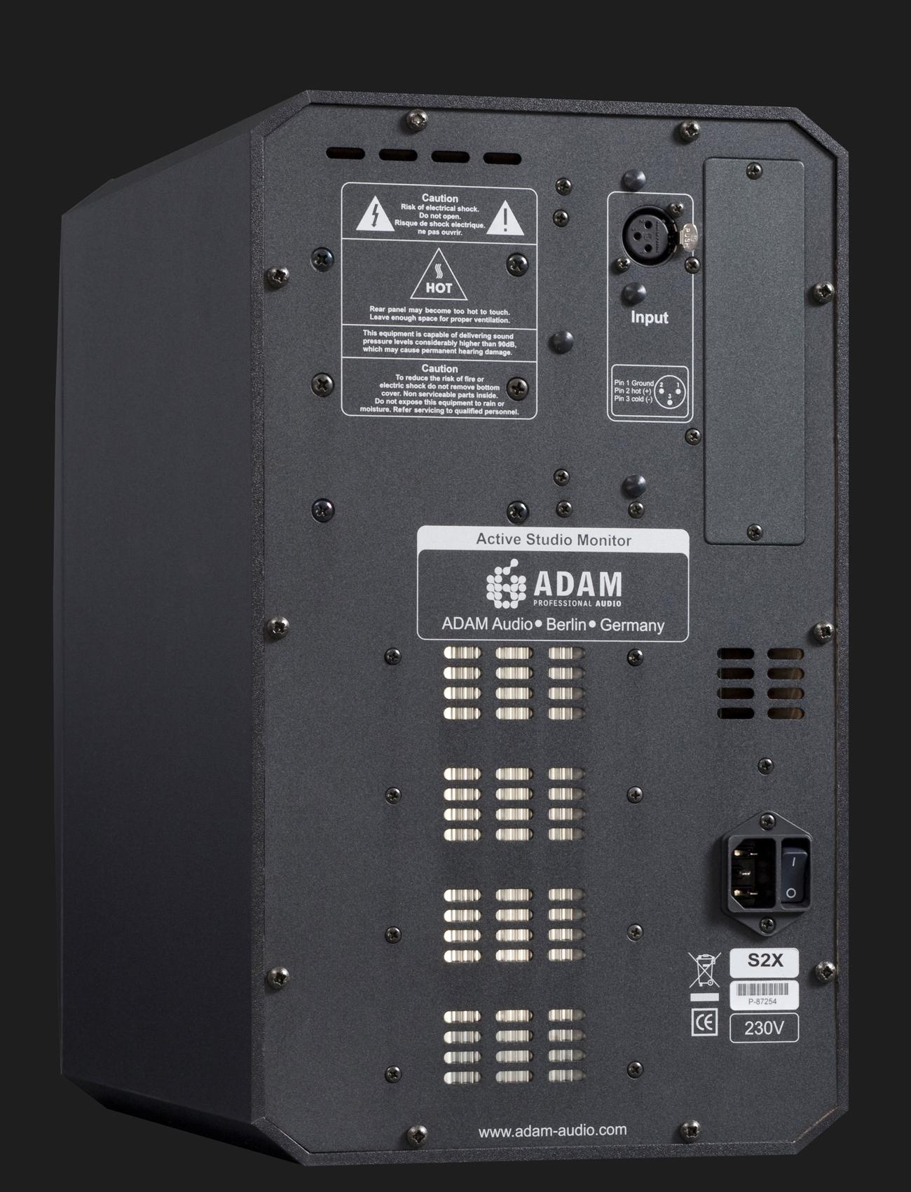 Adam Audio S2x Active Studio Monitor Nearfield S Pdif Backside Of