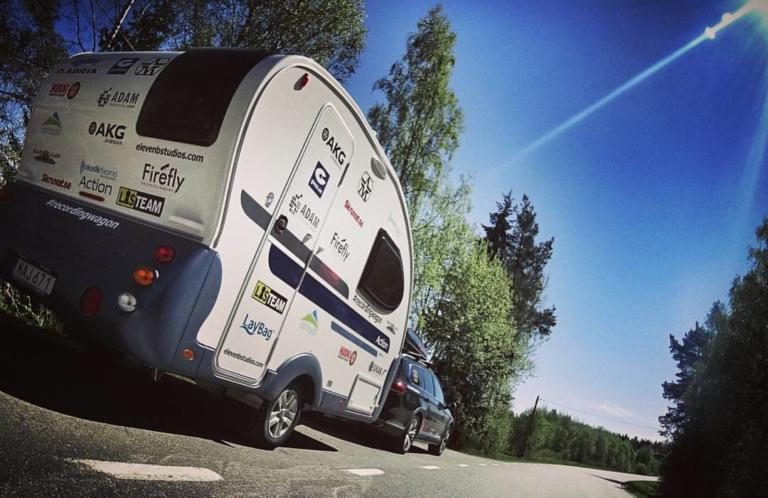 On the road with Dejo Andersson's #recordingwagon